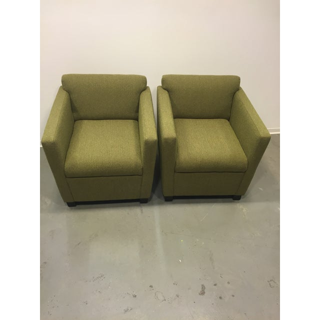 Green Club Chairs - Pair - Image 3 of 7