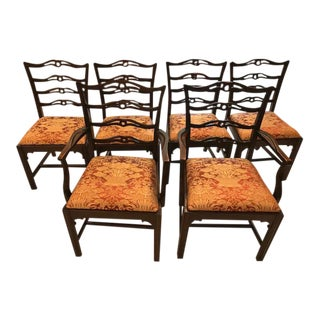Early 19th C English Mahogany Dining Chairs - Set of 6 For Sale