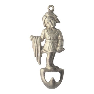 Last Markdown. Will Be Removed on March 31st. Vintage Italian Solid Brass Girl Bottle Opener For Sale