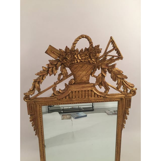 Neoclassical Gold Leaf Mirror - Image 4 of 11
