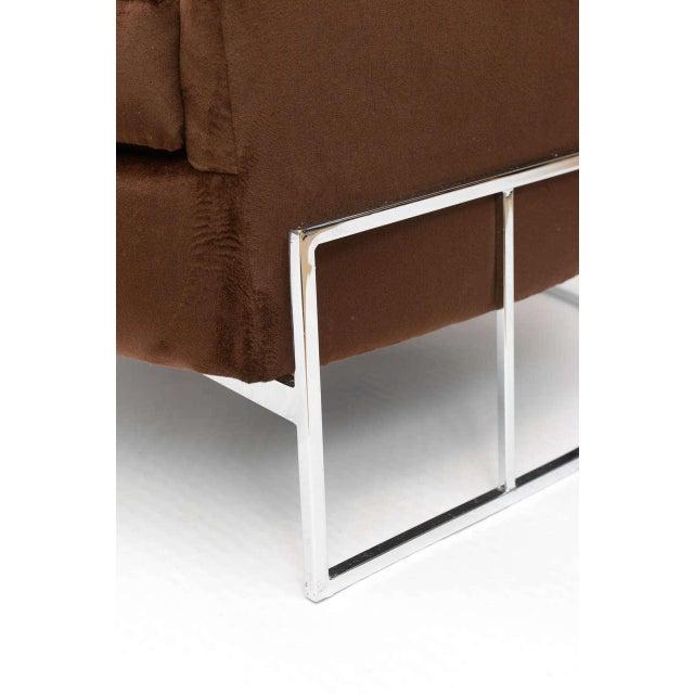 Milo Baughman Barrel Back Chair For Sale - Image 10 of 11