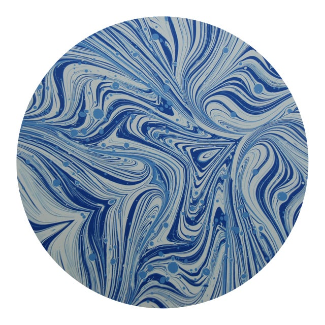 Marble Placemat in French Blue For Sale