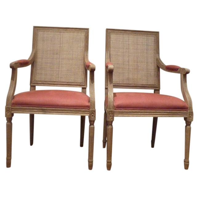 Restoration Hardware Cane Back Chairs - Pair - Image 1 of 6