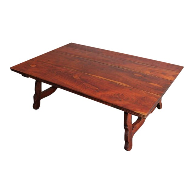 Early 20th Century Monumental Spanish Coffee Table For Sale