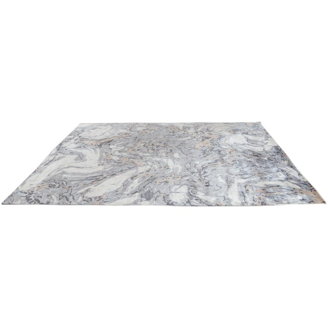 21st Century Modern Abstract Wool Rug For Sale - Image 10 of 12