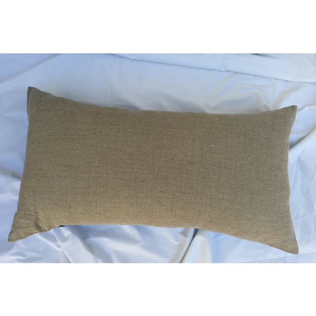 Faded Indigo Batik Body Pillow For Sale - Image 5 of 6