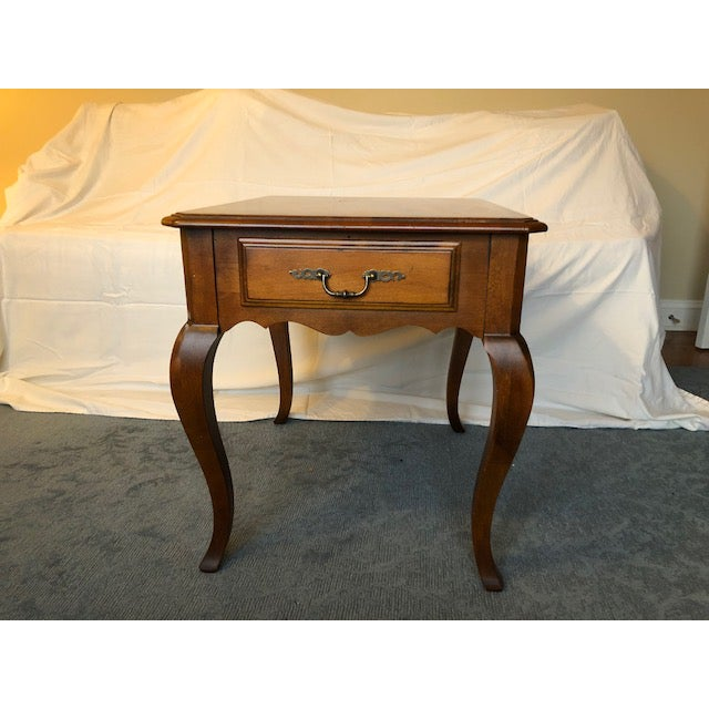 Ethan Allen New Country Coffee Table: Ethan Allen Side Table With Drawer