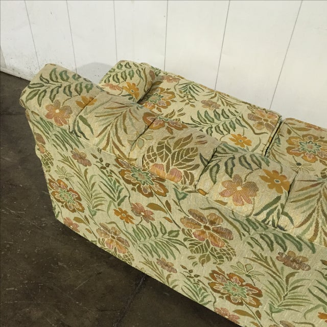 Awesome Vintage 60S Retro Floral Sofa Onthecornerstone Fun Painted Chair Ideas Images Onthecornerstoneorg