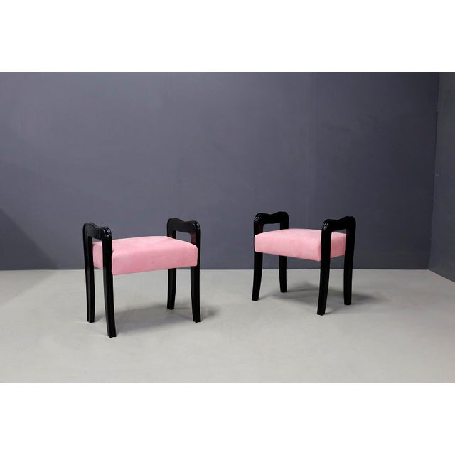 Pair of MidCentury Italian Stools Attributed to Paolo Buffa, 1950s For Sale - Image 10 of 10