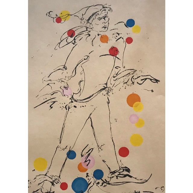 "1960s 1969 Mid-Century Modern ""Jester"" Serigraph by Ottley Schonberger For Sale - Image 5 of 6"