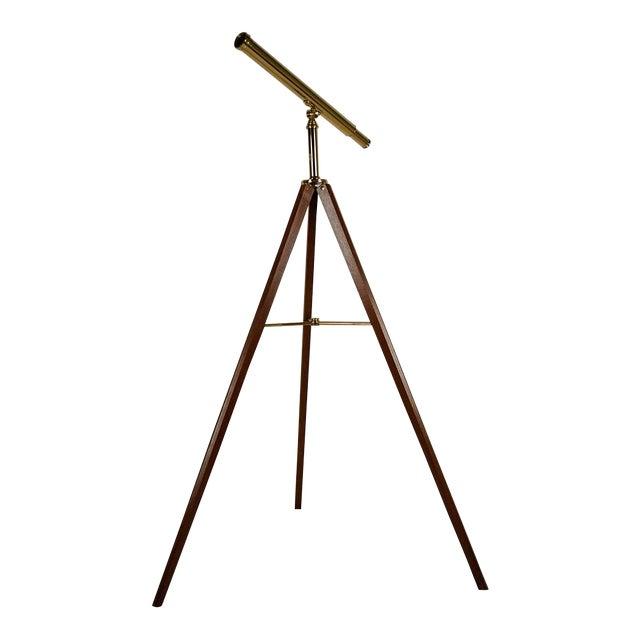 Vintage Van Cort Instrument Makers Brass Telescope For Sale