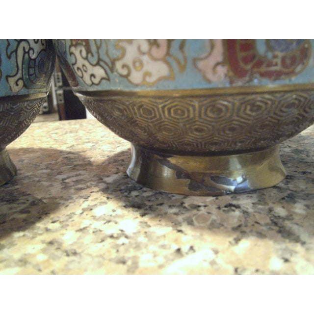 Antique Bronze Champleve Urns - A Pair - Image 11 of 11