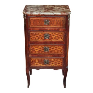 French Transitional Parquetry Inlaid Stand