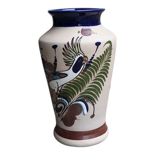 20th Century Vintage Tonala Mexican Parrot Vase by Pateos Tostado