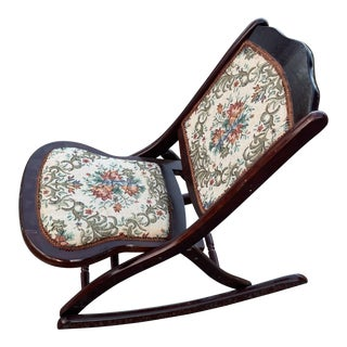 Victorian Folding Rocking Chair For Sale