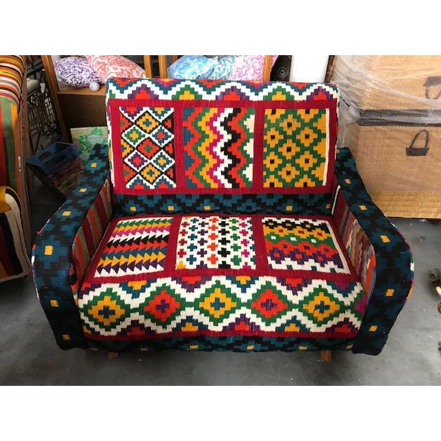 Handmade Turkish Kilim Sofa For Sale - Image 4 of 4