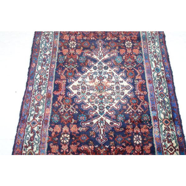 Hand Knotted Persian Mahal Runner - 3′10″ × 10′4″ - Image 3 of 11