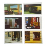 Image of Vintage Edward Hopper Iconic American Realist Poster Print Folio - Set of 6 For Sale