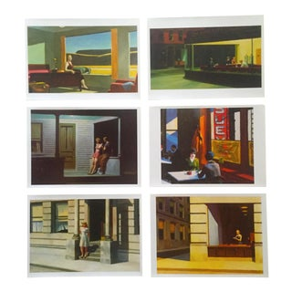 Vintage Edward Hopper Iconic American Realist Poster Print Folio - Set of 6