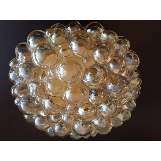 Mid-Century Modern 1960s Helena Tynell Limburg Bubble Glass Flush Light For Sale - Image 3 of 8