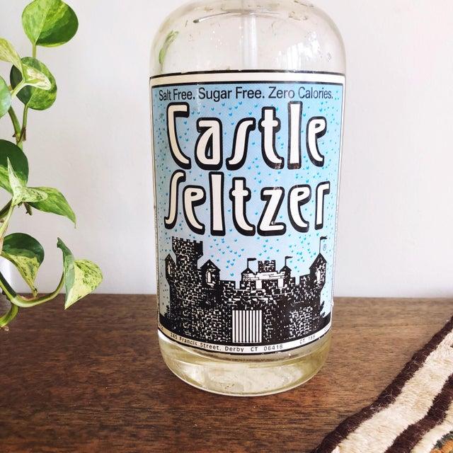 Industrial Vintage Glass Seltzer Bottle For Sale - Image 3 of 6