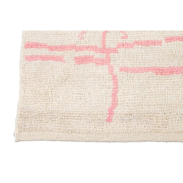 Textile 21st Century Modern Moroccan-Style Wool Rug For Sale - Image 7 of 13