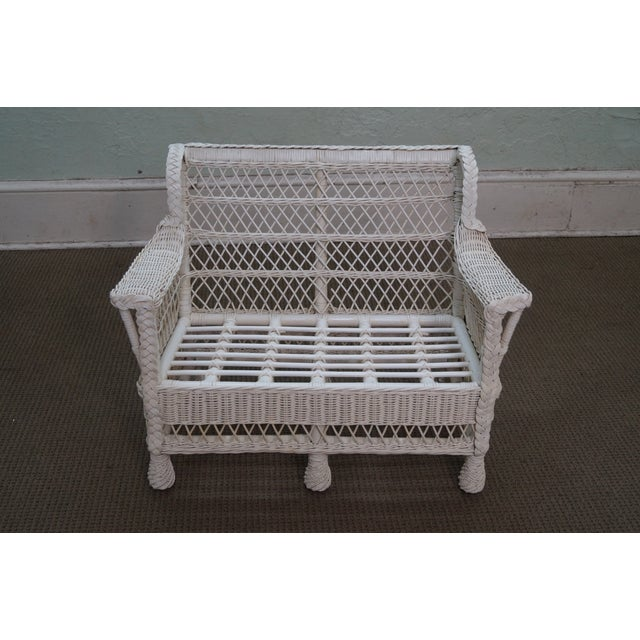 Victorian Child's Wicker Patio Set - Image 2 of 10