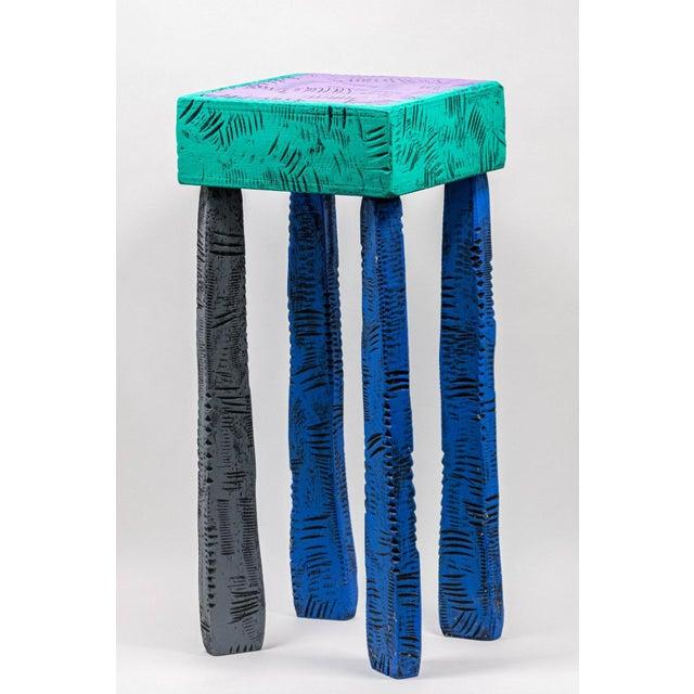 Postmodern Handmade Table by Wayne Norton 1991 For Sale In Los Angeles - Image 6 of 6