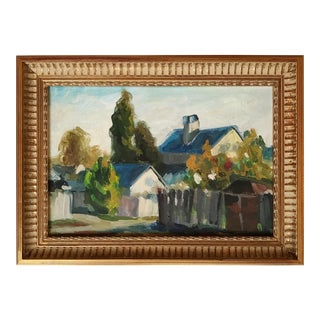 Traditional Framed Oil Landscape Painting For Sale
