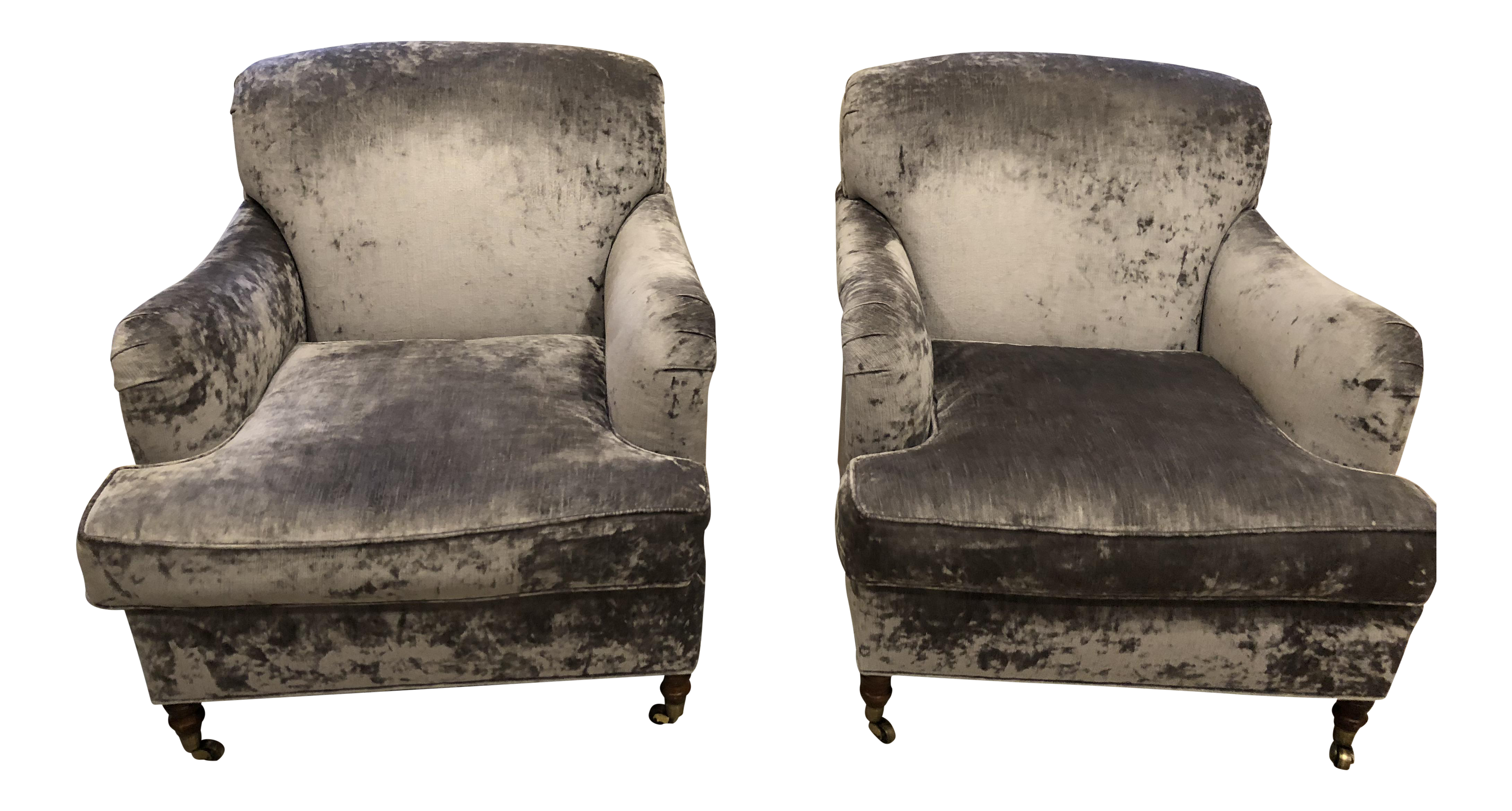 Oversized Lee Industries Upholstered Chairs   A Pair