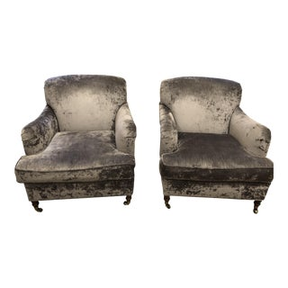 Oversized Lee Industry Upholstered Chairs - A Pair