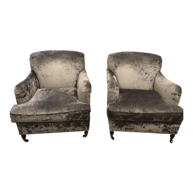 Oversized Lee Industry Upholstered Chairs - A Pair - Image 1 of 10