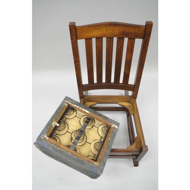 L. & J.G. Stickley, Inc. Mission Oak Youth Nursing Rocking Chair For Sale - Image 9 of 11