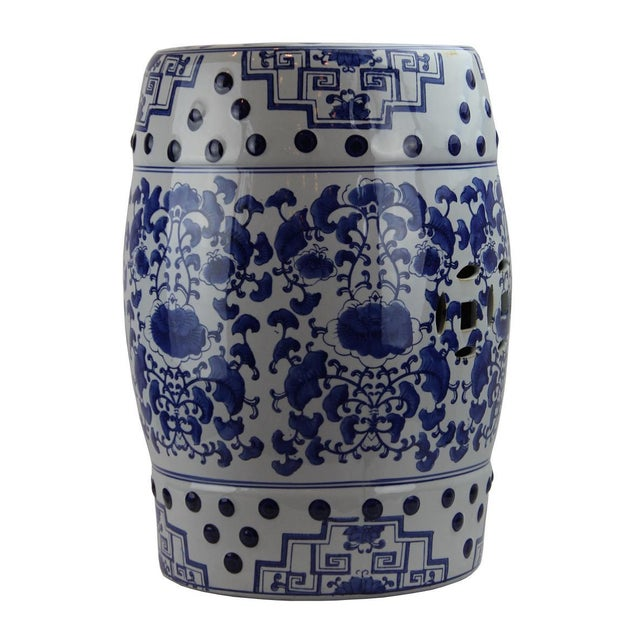 2010s Modern Pasargad DC Contemporary Floral Porcelain Garden Stool For Sale - Image 5 of 5