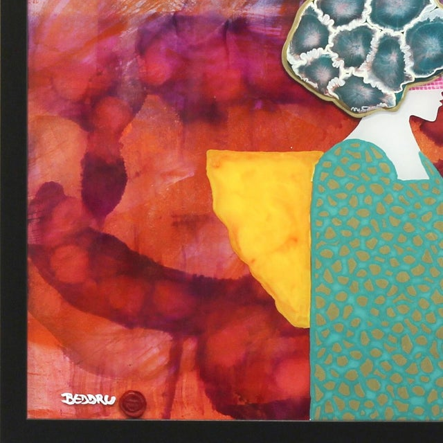 """Contemporary Giuseppe Beddru """"Donna Viola"""" Contemporary Painting For Sale - Image 3 of 8"""