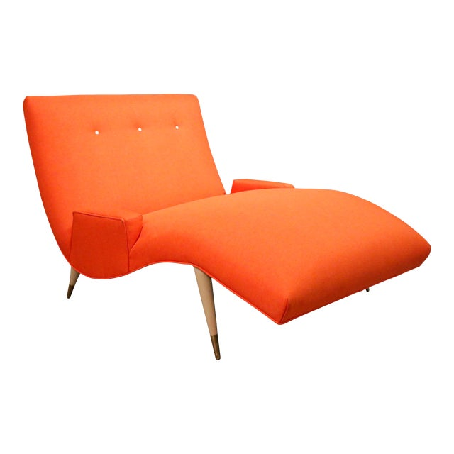 Mid Century Modern Wave Chaise Lounge by Lawrence Peabody for Selig For Sale