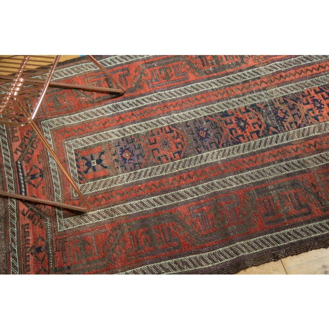 "Country Antique Belouch Rug Runner - 3' x 5'8"" For Sale - Image 3 of 9"