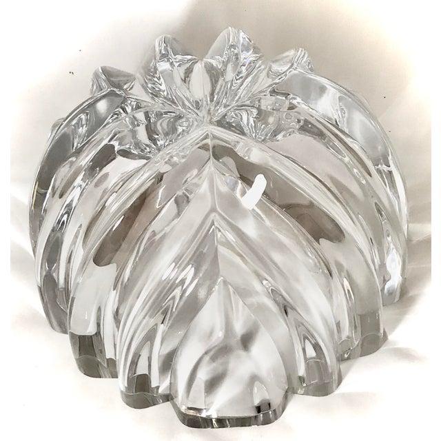 Transparent 1970s Orrefors Swedish Signed Crystal Isabella Bowl For Sale - Image 8 of 12