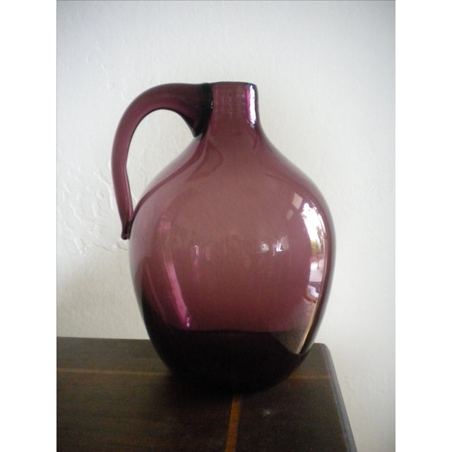 Vintage Hand-Blown Glass Jug - Image 4 of 4