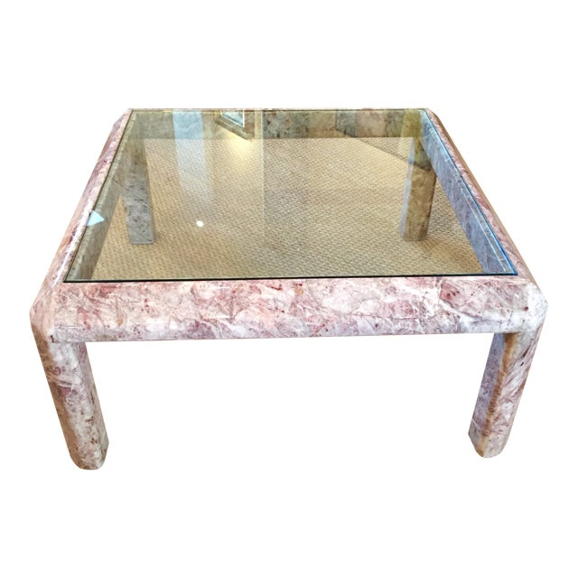 Modernist Marble & Glass Cocktail Table For Sale
