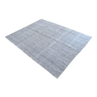 """1960s Vintage Flat Weave Turkish Kilim Rug. Solid Gray Goat Hair Area Rug 7'2"""" X 9'2"""" For Sale"""