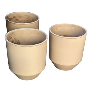 Architectural Pottery Planters Bulletts by David Cressey - Set of 3 For Sale