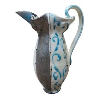 Vintage Large Studio Ceramic Pitcher For Sale