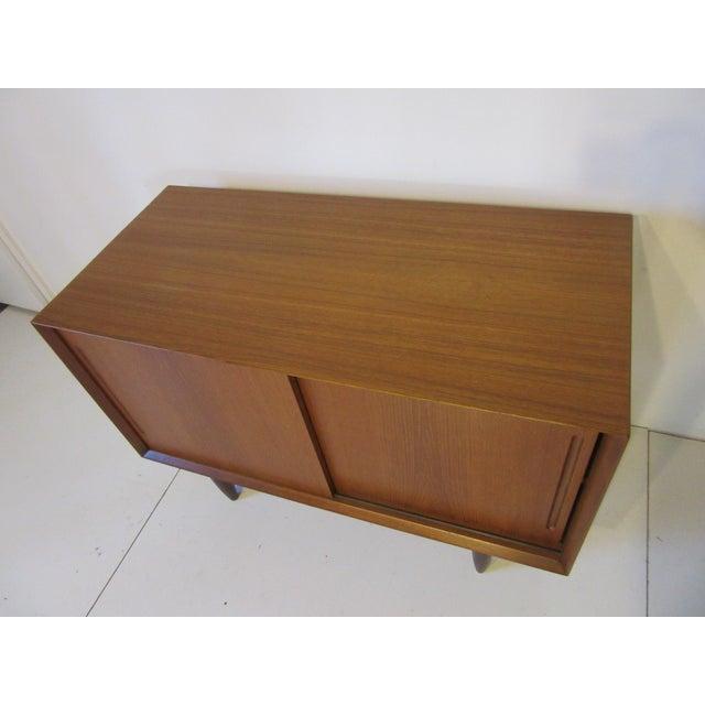 Danish Teak Wood Smaller Credenza For Sale - Image 4 of 8