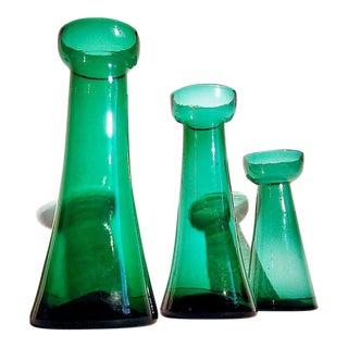 1960s Vintage Blenko Vases - Set of 3 For Sale