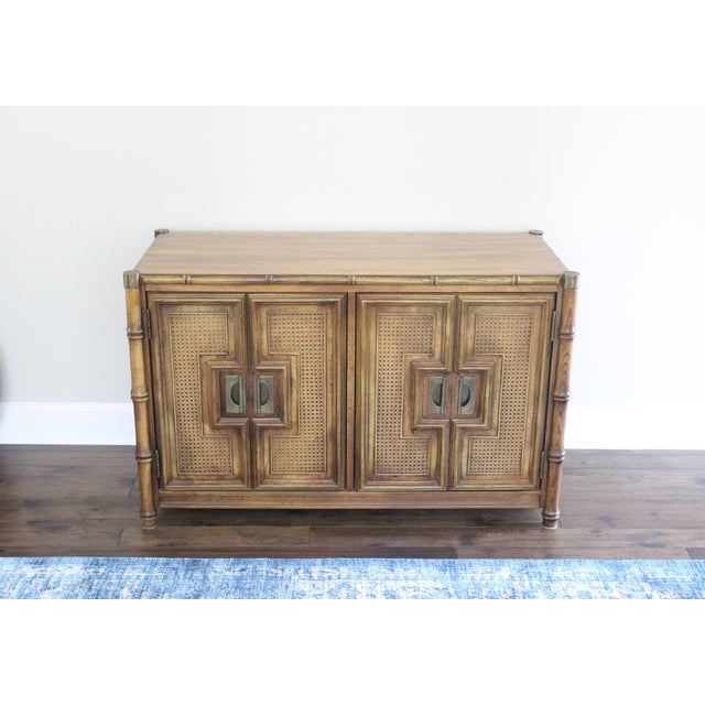 Stanley Mid Century Faux Bamboo Credenza - Image 2 of 11