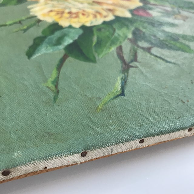 Vintage Still Life Rose Painting - Image 5 of 8