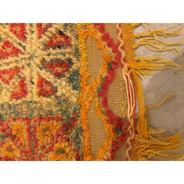 Gold Gold Multi Moroccan rug For Sale - Image 7 of 11