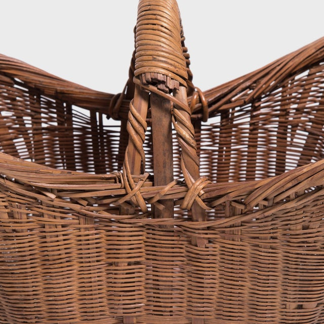Chinese Twist Woven Market Basket For Sale In Chicago - Image 6 of 8