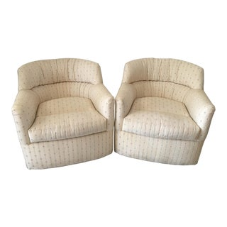 Sherrill Swivel Rocking Chairs - A Pair